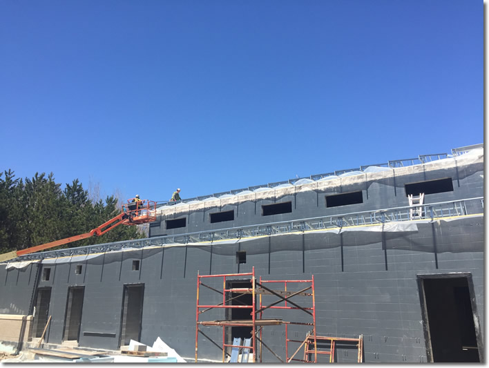 Construction on Cloquet water treatment plant - May 2018
