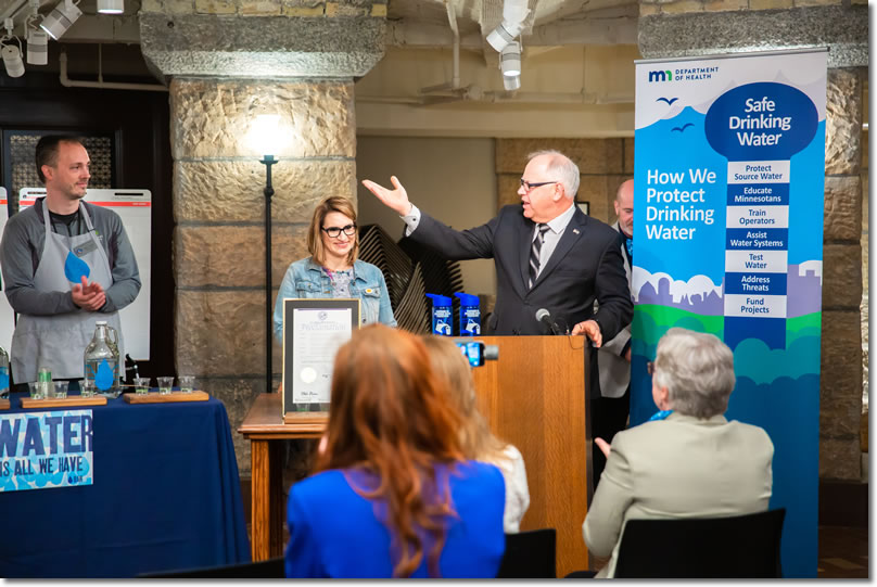 Governor Tim Walz proclaims Safe Drinking Water Week
