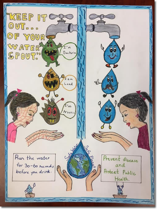 Winning poster from water poster contest