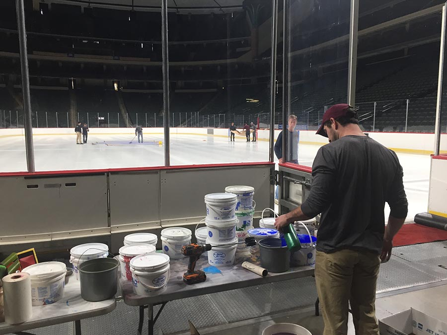 Paint for the rink