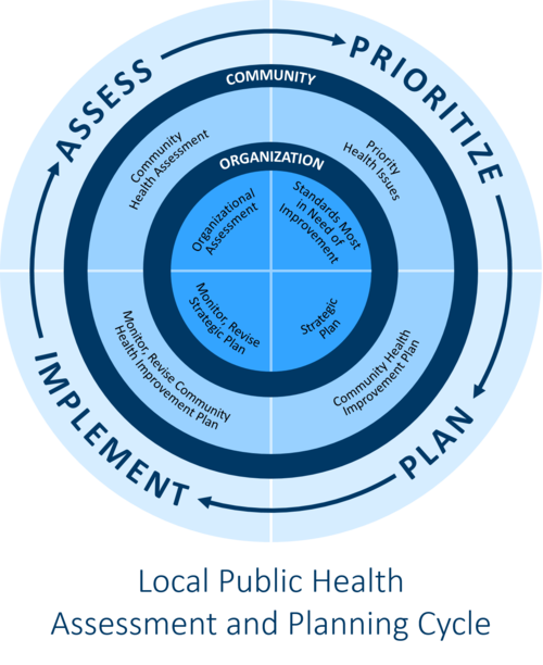 Diagram: Local Public Health Assessment and Planning Cycle