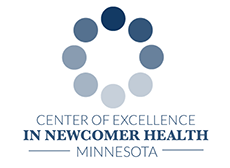 center of excellence in newcomer health logo
