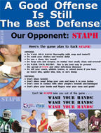 "image of the ""a good offense is the best defense"" poster."