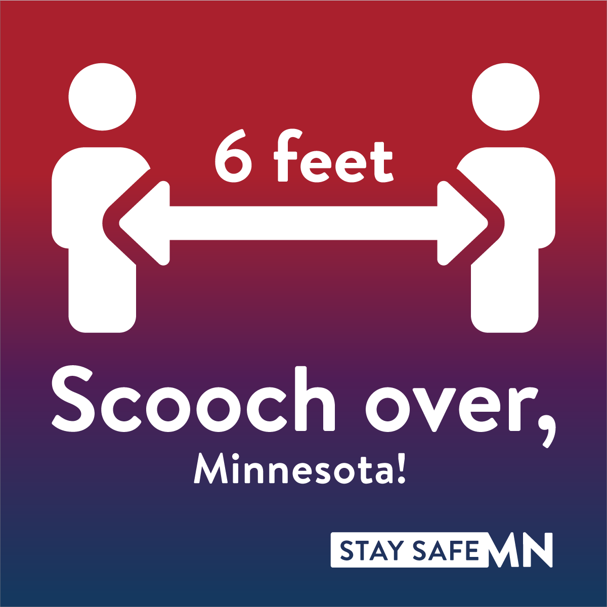 Scooch over, Minnesota! Stay 6 feet apart.