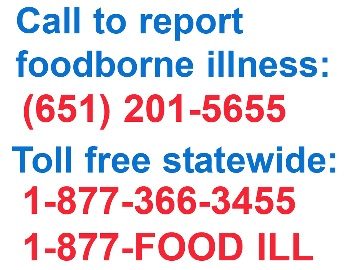 Foodborne Illness Hotline Brochure