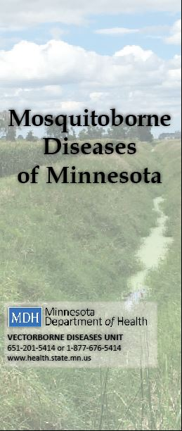 Image of the front of the Mosquitoborne Diseases of Minnesota brochure