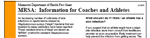 link to mrsa information for coaches and athletes fact sheet.