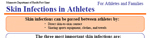 Link to skin infection information for athletes and families fact sheet