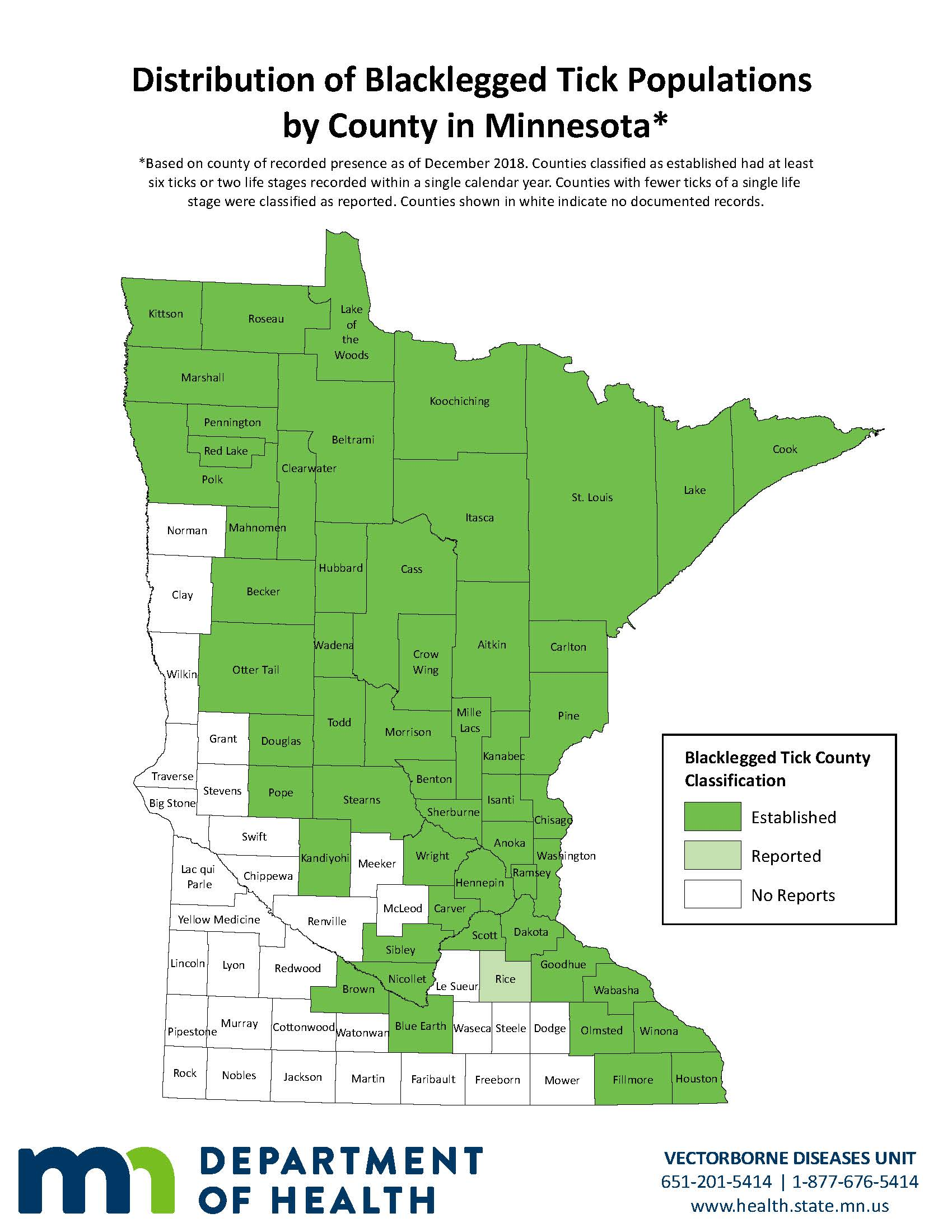 Tick Monitoring Minnesota Dept Of Health - Map-of-ticks-in-us
