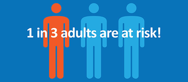 1 in 3 adults are in risk