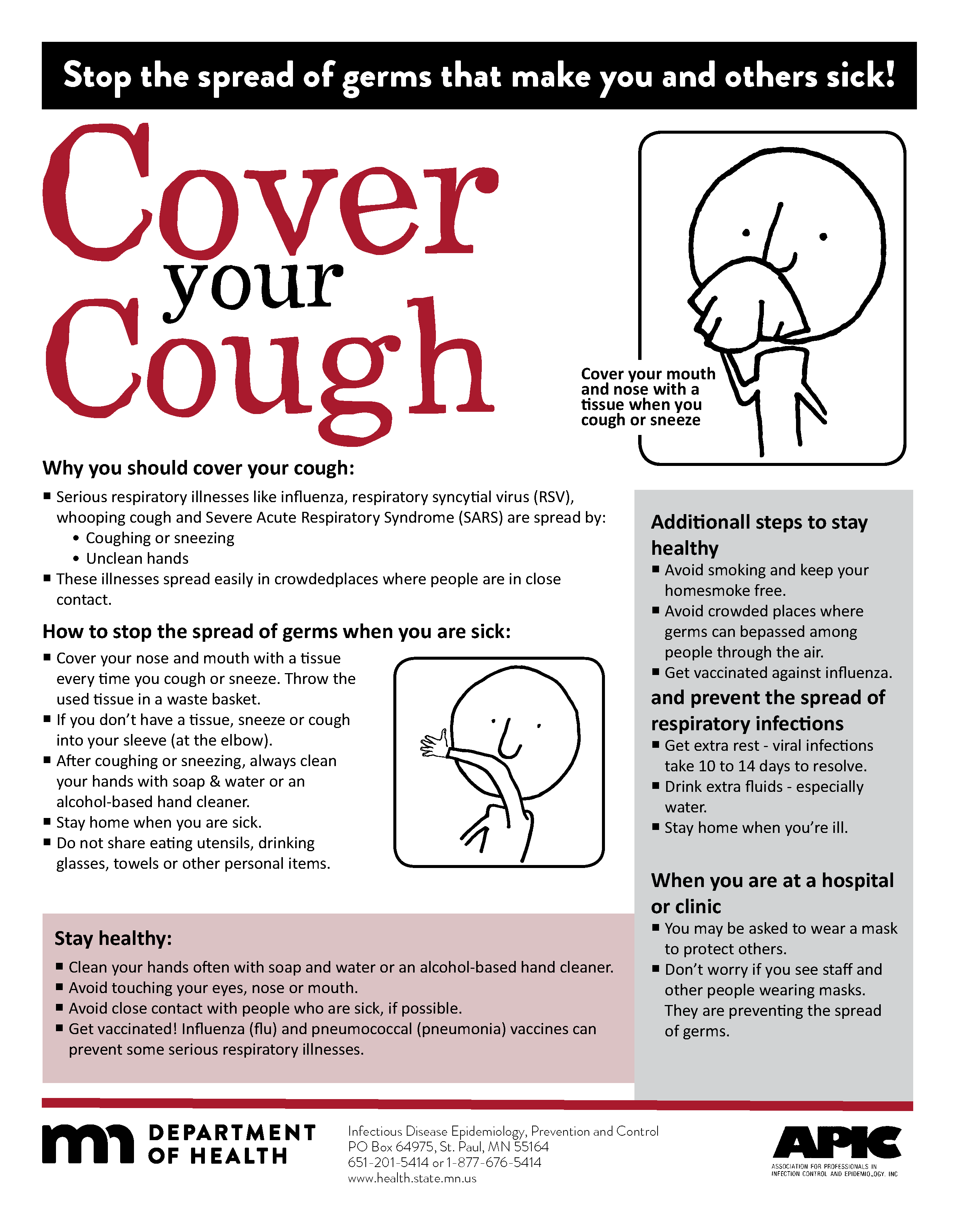 image of  cover your cough fact sheet