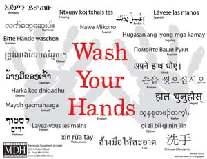 graphic about Free Printable Hand Washing Posters titled In depth Listing of Print Resources - Minnesota Dept. of